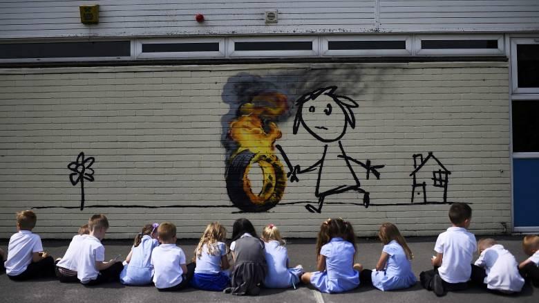 Ο Banksy άφησε (ξανά) το στίγμα του στο Μπρίστολ