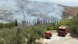 Ηράκλειο: Πυρκαγιά απειλεί τον αρχαιολογικό χώρο της Κνωσού και τα γύρω σπίτια