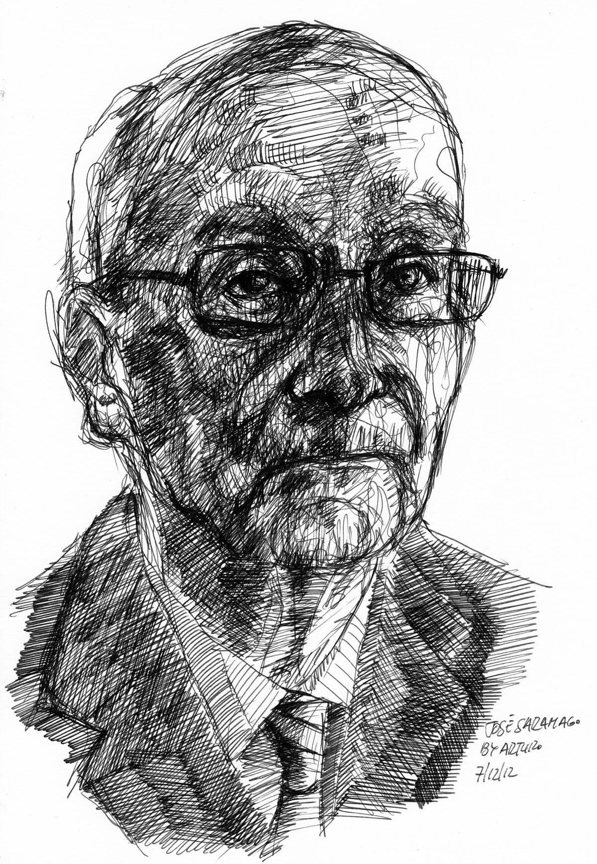 José Saramago for PIFAL by Arturo