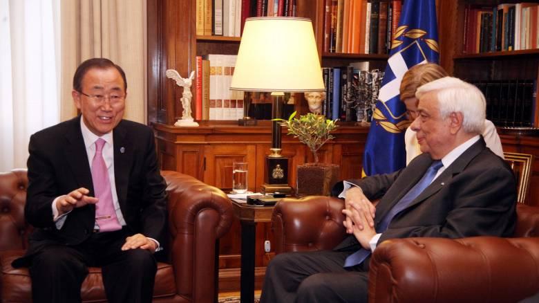 Παυλόπουλος σε Μπαν Κι-Μουν: Nα εφαρμόσει η Τουρκία τη συμφωνία για τους πρόσφυγες