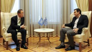 Τσίπρας σε Μπαν Κι-Μουν: Κρίσιμος ο ρόλος του ΟΗΕ