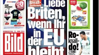 Η Bild καλεί τους Βρετανούς να μείνουν και τους τρολάρει…