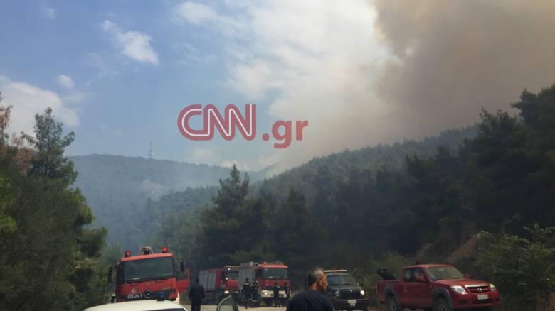 Ο αντιδήμαρχος Δερβενοχωρίων στο CNN Greece για τη φωτιά