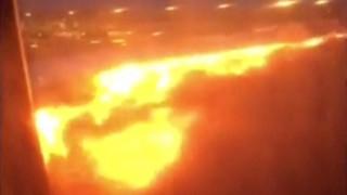 Καρδιοχτύπησαν οι επιβάτες: Φωτιά σε αεροσκάφος μετά από αναγκαστική προσγείωση