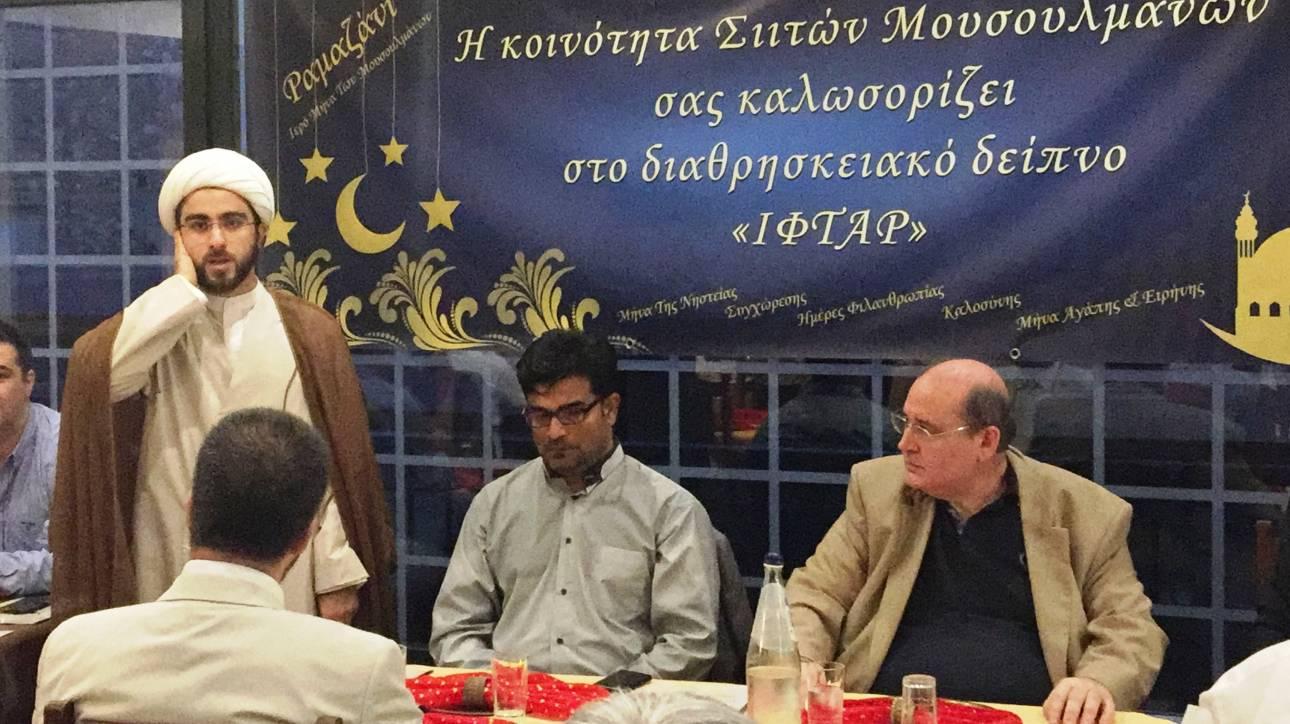 O Νίκος Φίλης σε δείπνο με τη Σιιτική Κοινότητα της Αθήνας για το Ραμαζάνι