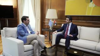 Εμβάθυνση των σχέσεων Ελλάδας-ΗΑΕ συζήτησαν ο Τσίπρας με τον ΥΠΕΞ της χώρας