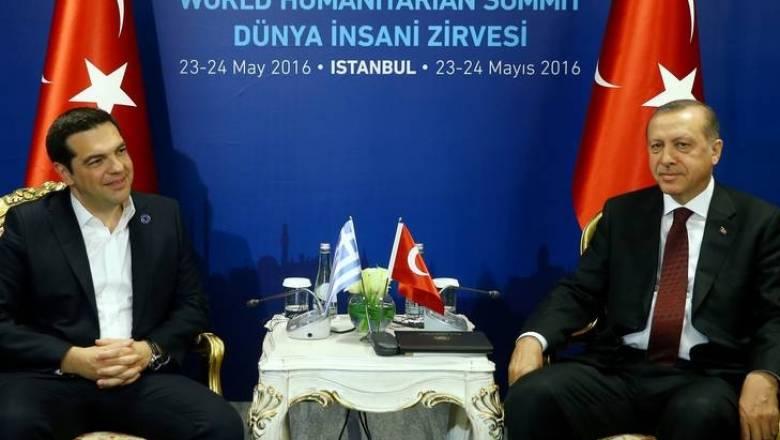 Tηλεφωνική επικοινωνία Τσίπρα-Ερντογάν