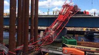 Γερανός κατέρρευσε στη γέφυρα Tappan Zee στη Νέα Υόρκη