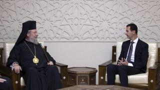 Ο πόλεμος στη Συρία στη συνάντηση αρχιεπισκόπου Κύπρου - Άσαντ