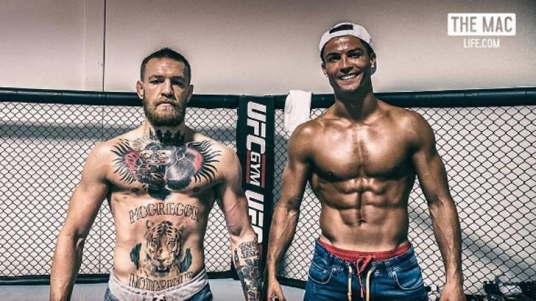 Ο Κριστιάνο επισκέφθηκε στην προπόνηση τον πρωταθλήτη του MMA ΜακΓκρέγκορ