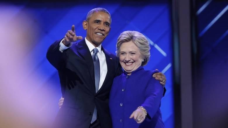 Από το πλευρό της Χίλαρι ο Ομπάμα σφυροκοπεί Τραμπ