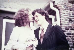 Η Χίλαρι και ο Μπλ στο γάμο τους, 11 Οκτωβρίου 1975.