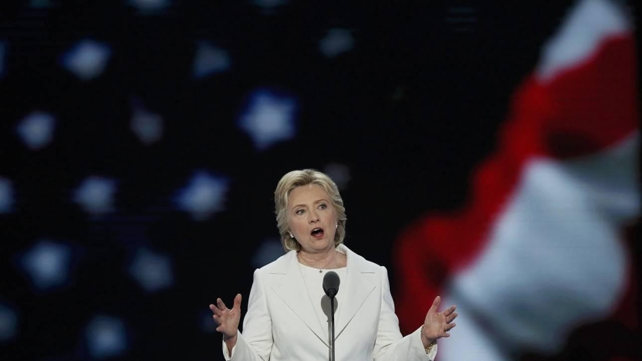 H Κλίντον αποδέχτηκε το χρίσμα των Δημοκρατικών
