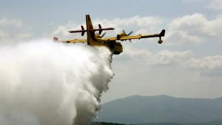 Πυρκαγιά μαίνεται στην Εύβοια