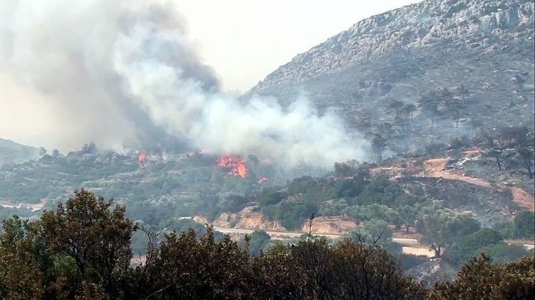 Ρέθυμνο: φωτιά στα νότια του νομού