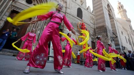 Αφροκινέζικο φεστιβάλ χορού στο Κάιρο