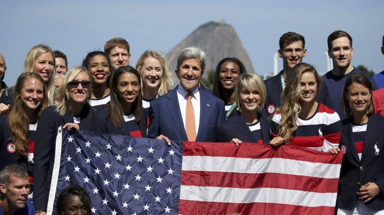 Ο Τζον Κέρι δηλώνει βέβαιος ότι οι Ολυμπιακοί Αγώνες θα είναι ασφαλείς