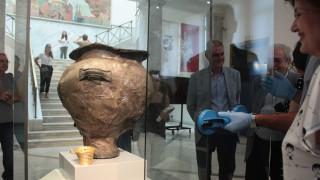 Αρχαιολογικό Μουσείο: Η πρώτη παρουσίαση του «αργυρού κρατήρα της μάχης»