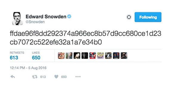 snowden codedmessage