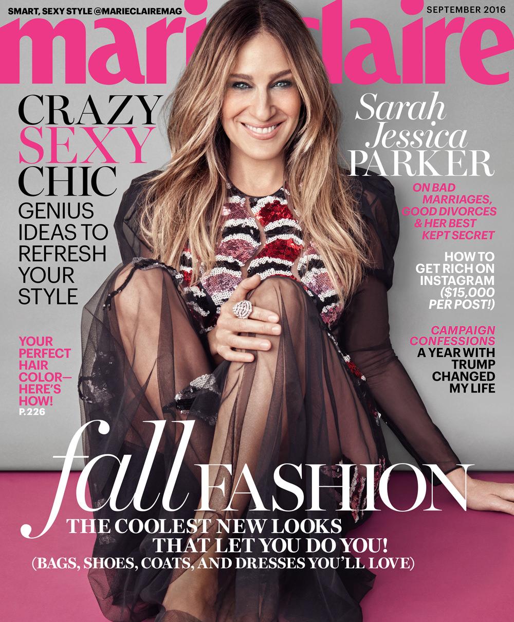 Sarah Jessica Parker Marie Claire Magazine September 2016 Issue Tom Lorenzo Site 1