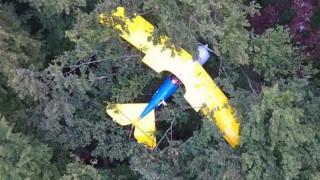 Πιλότος ξημερώθηκε πάνω σε δέντρο μετά από ατύχημα (pics)