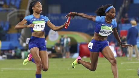 Ρίο 2016: με τον καλύτερο χρόνο στον τελικό των 4Χ100 οι ΗΠΑ που έτρεξαν μόνες τους!
