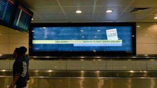 Προκλητική διαφήμιση στο αεροδρόμιο Ατατούρκ με τίτλο: «Σουηδία, χώρα του βιασμού»