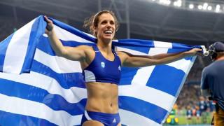 Κατερίνα Στεφανίδη: Τα ξημερώματα κρεμά στο λαιμό της το χρυσό μετάλλιο