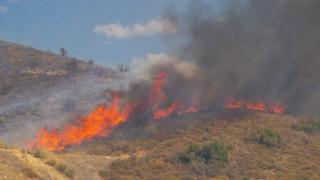 Υπό μερικό έλεγχο η φωτιά στην Κάρυστο