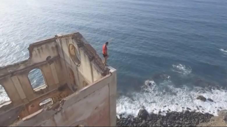 Βίντεο που κόβει την ανάσα: Ισορροπώντας στα ψηλά χωρίς εξοπλισμό ασφαλείας