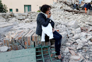 Οι πρώτες εικόνες από τον σεισμό στην Ιταλία