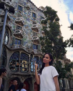 Η Joan Smalls στην Βαρκελώνη