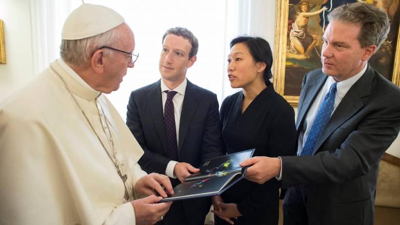 Συνάντηση Πάπα - Ζούκερμπεργκ για την αντιμετώπιση της φτώχειας