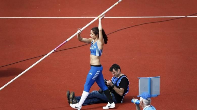 Η Κατερίνα Στεφανίδη αναδείχθηκε 3η στον αγώνα επί κοντώ, που έγινε στον σταθμό της Ζυρίχης