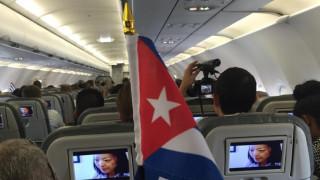 Σε πανηγυρικό κλίμα η πρώτη εμπορική πτήση από Αμερική προς Κούβα