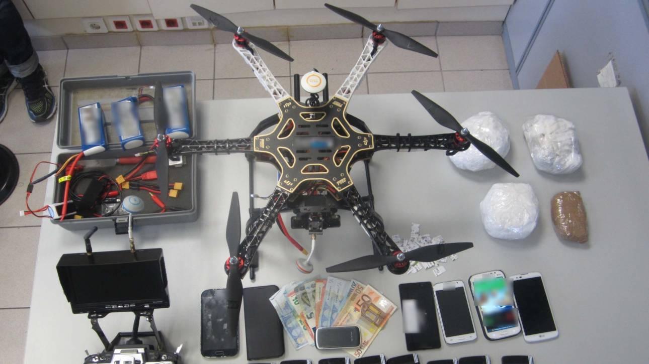 Delivery ναρκωτικών με drone στις φυλακές Λάρισας