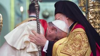 Νέο άνοιγμα του Πάπα προς την Ορθόδοξη Εκκλησία: Έπλεξε το εγκώμιο του Βαρθολομαίου