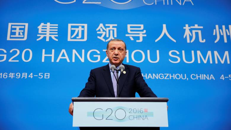 G20: Επανέφερε την πρόταση δημιουργίας «ζώνης ασφαλείας» στη Συρία ο Ερντογάν