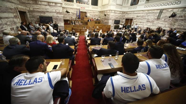 Στη Βουλή οι Έλληνες Ολυμπιονίκες
