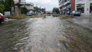 Θεσσαλονίκη: Λεωφορείο «σκεπάστηκε» από τα νερά (vid)