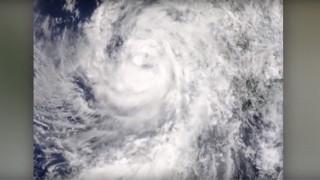Ο Τυφώνας Newton από το Διάστημα