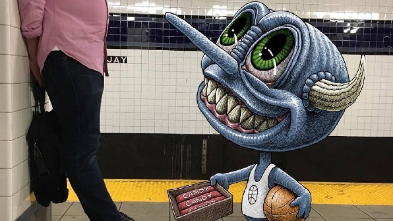 Το μετρό της Νέας Υόρκης γέμισε με... τέρατα