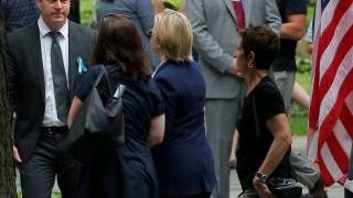 Η Κλίντον αποχώρησε από την τελετή της 11ης Σεπτεμβρίου λόγω αδιαθεσίας