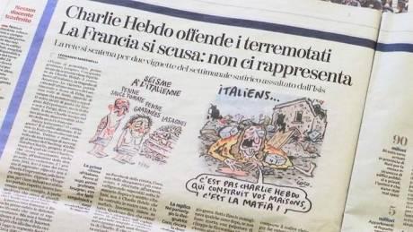 Ο δήμος Αματρίτσε μηνύει το Charlie Hebdo