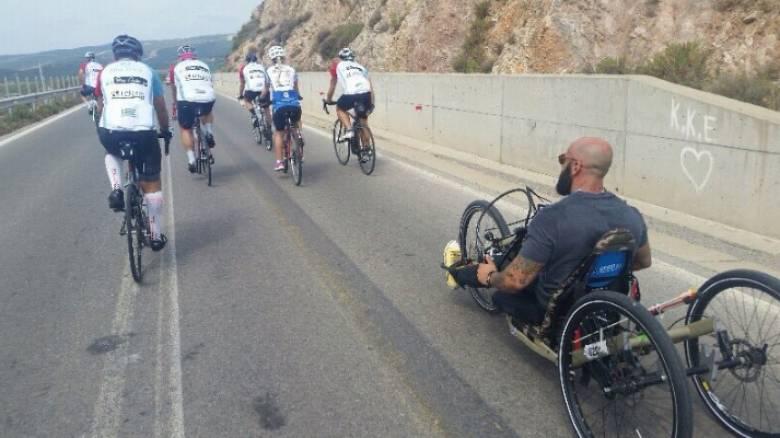 Τεράστιο αναπηρικό αμαξίδιο από χίλιους ανθρώπους στην Κομοτηνή