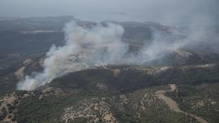 Θάσος: Σε ύφεση η φωτιά, άρχισε η καταγραφή των ζημιών