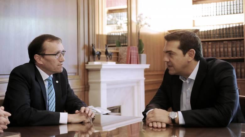 Συνάντηση Τσίπρα με τον ειδικό σύμβουλο του γγ του ΟΗΕ για το Κυπριακό