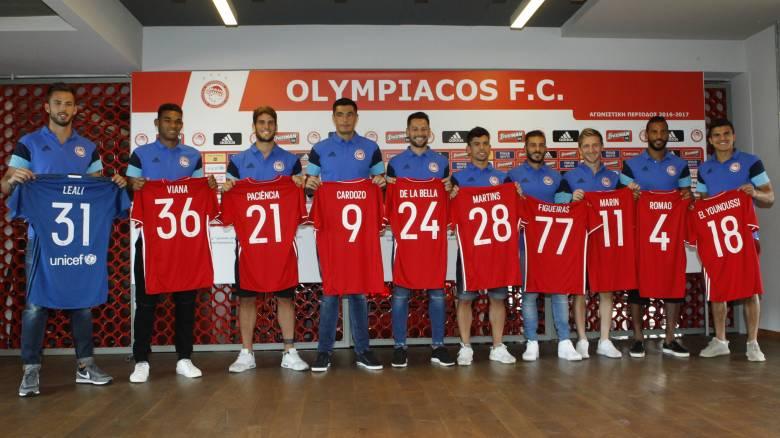 Επίσημα αποκαλυπτήρια για τους νέους ποδοσφαιριστές του Ολυμπιακού