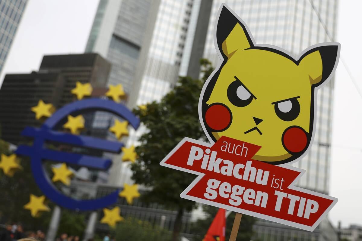 TTIP Pikachu 2016 09 17T125738Z 1035596683 LR1EC9H0ZZSWS RTRMADP 3 EU USA TTIP