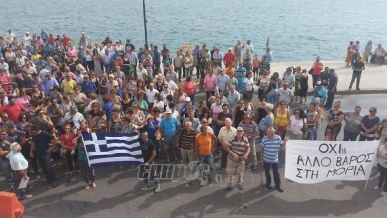 Επεισόδια στην πορεία των κατοίκων της Μόριας για το προσφυγικό